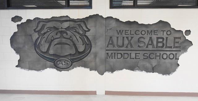 Aux Sable Entrance Mural