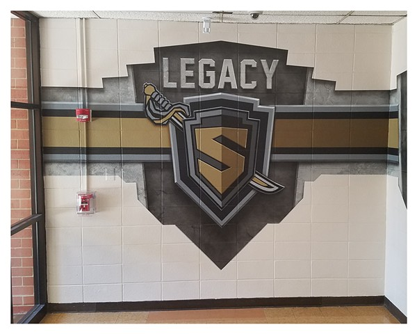 Streamwood Mural - Legacy NEW LOGO Center View Section 1