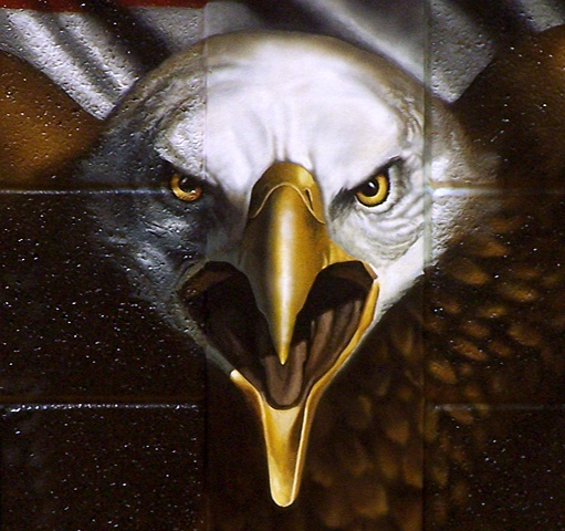 Ira Jones Mural 2 - Eagle Head Detail