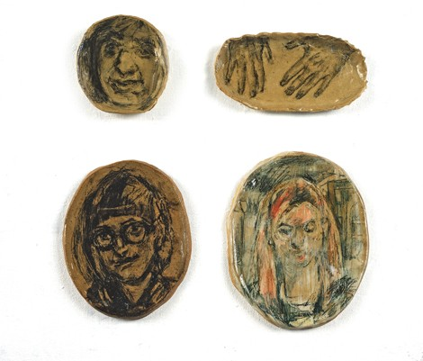 clay portraits and drawings