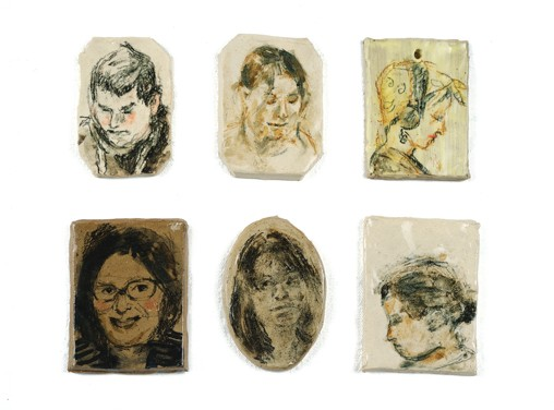 clay portrait tiles