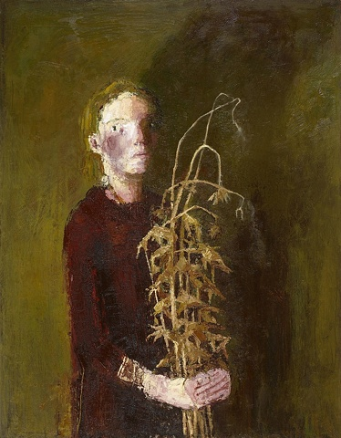Self Portrait with Thistles