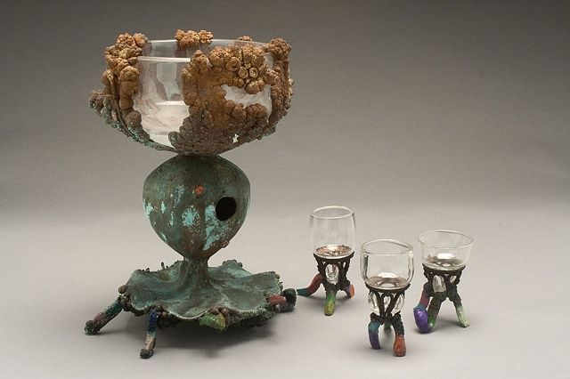 Dirt and Worms Dessert Chalice Set