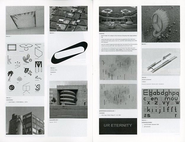 pages from 100 LIKES zine