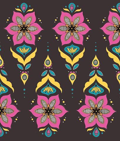 Folk Flower Print