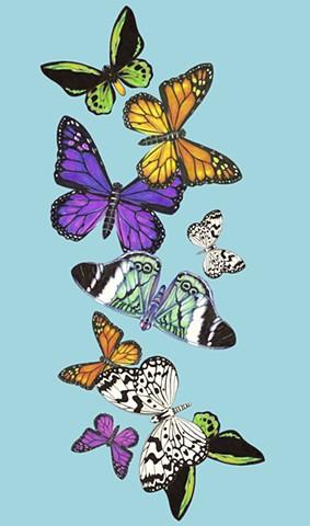 Blue Butterfly Print