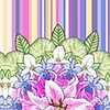 Bouquet Selvage Print