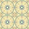 Moroccan Sunflower Tile Print