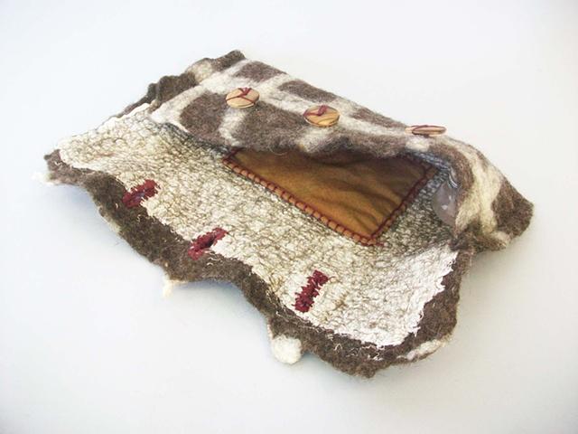 Felt Hand Bag by Lauren Rogers