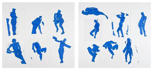 Dyptic: Blue Composition
