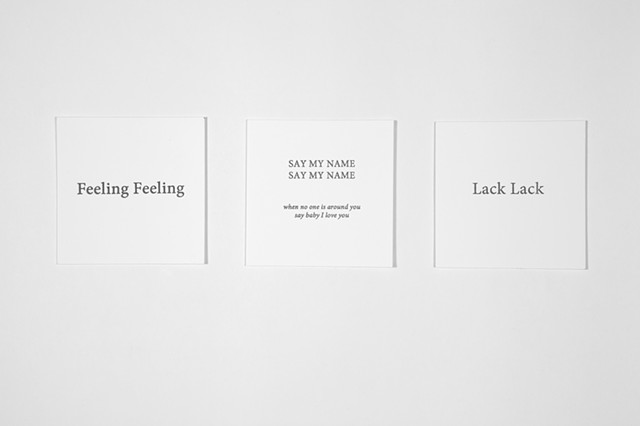 Lacan, Lack Lack, Beyonce, Say My Name Say My Name, Touching Feeling, Eve Kosofsky Sedgewick, Feeling Feeling,