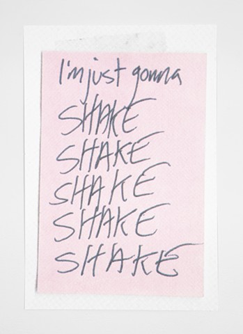 CMYK Print Taylor Swift Lyrics Shake Shake Shake Shake TSwift #TSwift Lorde Screen Print