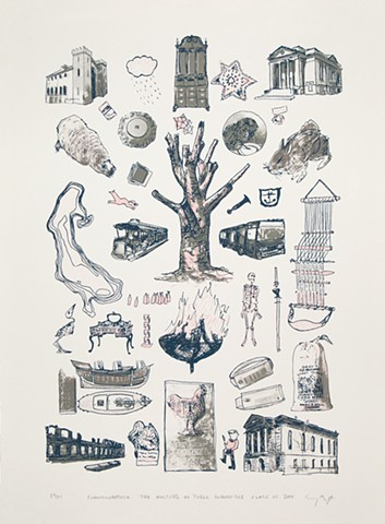 Brown Center for Public Humanities.  Commemorative print commissioned for MA students Class of 2014