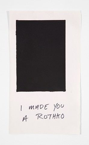 Rothko, Flat Black, Screen Print, stupid, gifting, gift print, making fun of modernism, making fun of myself, making fun of Rothko