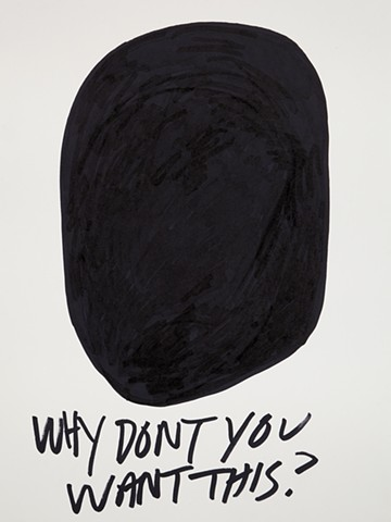 Why don't you want this black blob, race, abstraction