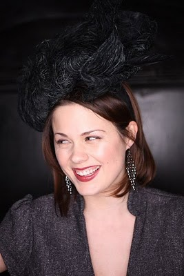 'Vivienne' hat by Tonya Gross Millinery as worn by  Sophie Amoss