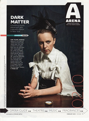 tonya gross millinery hat featured in February 2010 Chicago Magazine