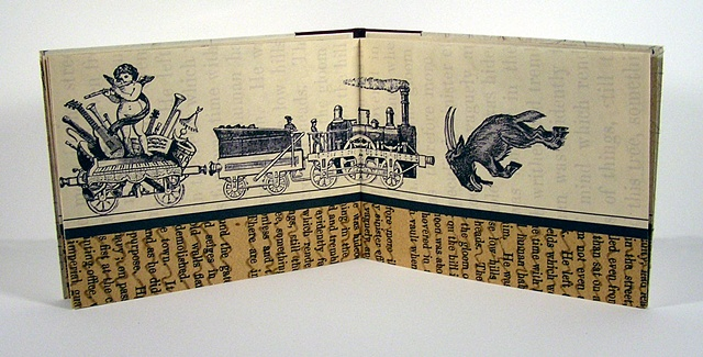 book art, train, love, daily life,