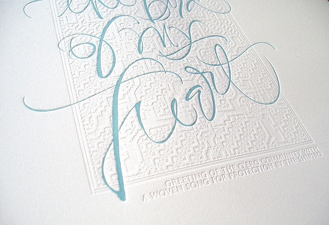 Letterpress greeting