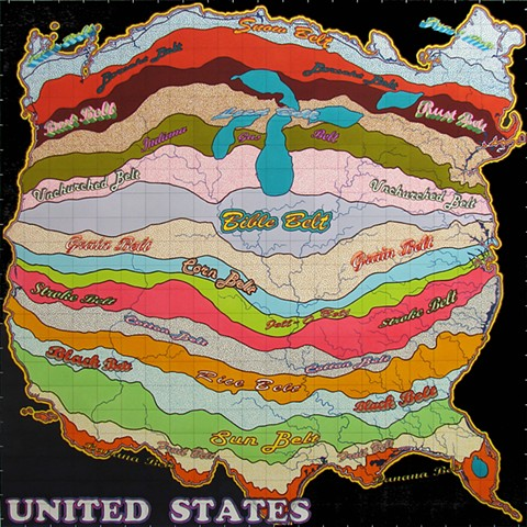United States Map III (The Belts)