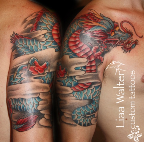 dragon custom tattoo Liaa Walter
