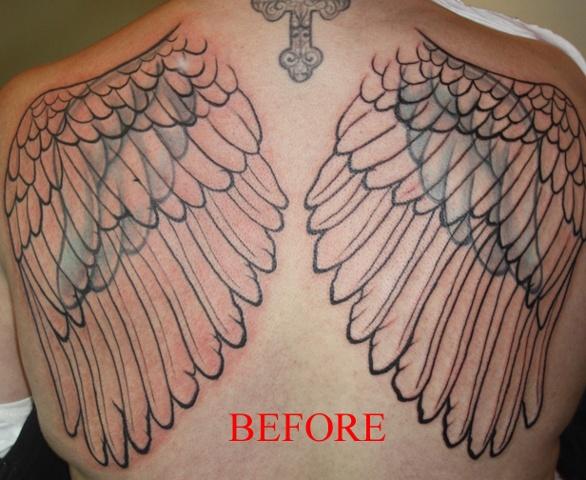 Wings before