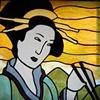 geisha window with chopsticks