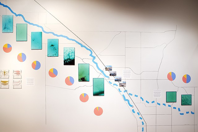 Installation of Santa Cruz River art/science collaboration