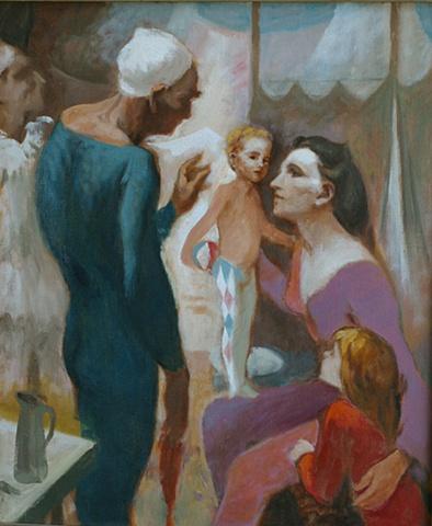 The Acrobat Family (self portrait)