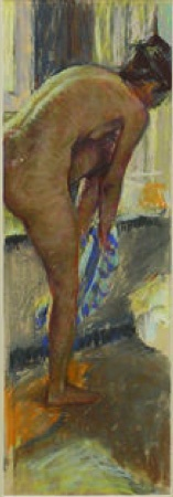 Woman bathing