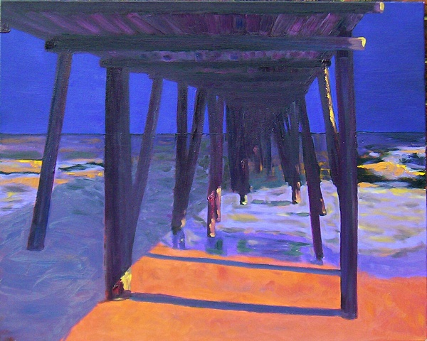 original, seascape, giclee prints, ocean, pier,oil, painting