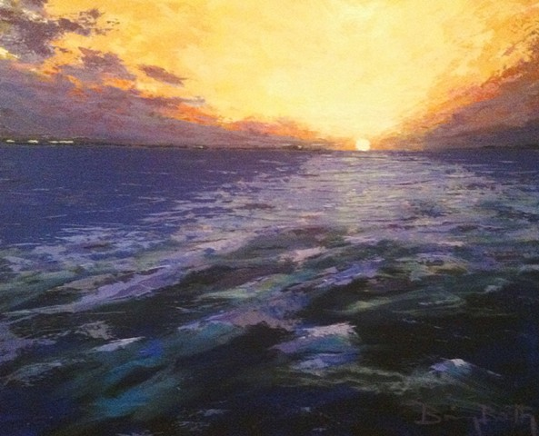 Brian Booth art seascape landscape abstract sunset sunrise ocean