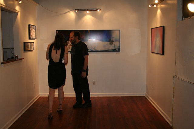 "At the Opening Reception, ""Layers of the Mindscape""  Photography by Rachel L Goldstein, MFA Thesis Show"
