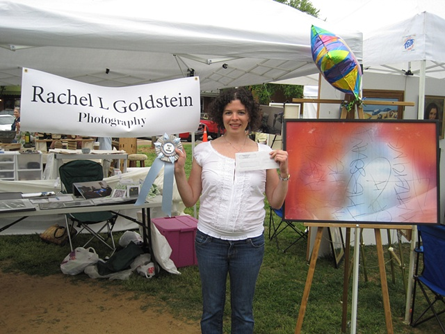 Me receiving my Best In Show award at Art on the Green in Davidson, NC, April 24 2010