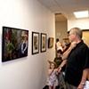 """Spring Show visitors viewing my picture, """"Untitled (Mom and Dad)"""""""