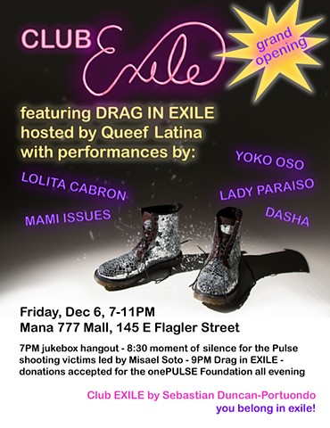 Club EXILE Grand Opening + DRAG in EXILE Flyer