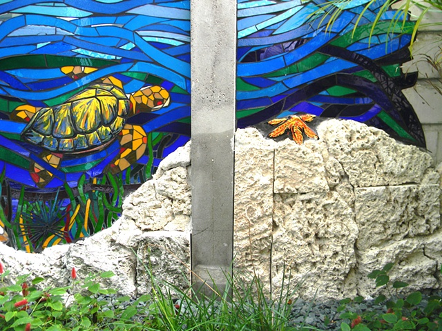 Monarch Migration Mural (Turtle Detail)