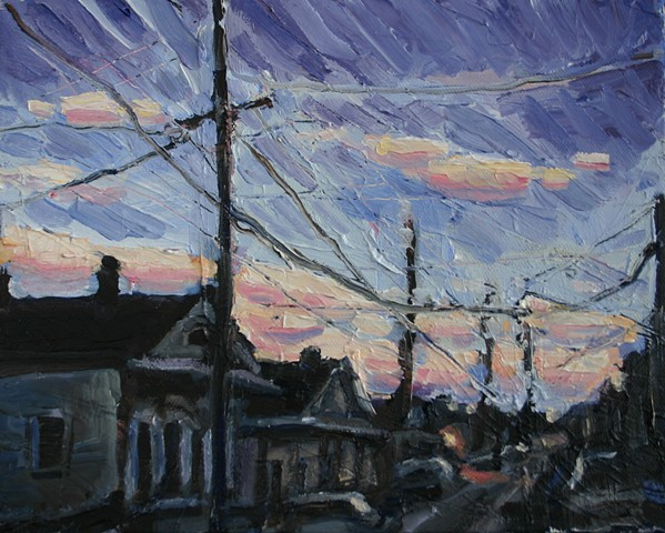 Impasto Dusk, oil on canvas, 8in x 10in