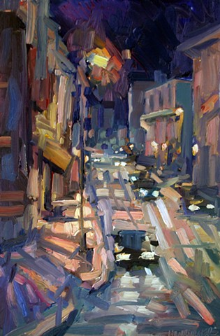 Baltimore Nocturne 1, 18x12in, oil on panel