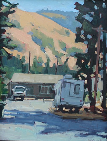 Trailer, 14x11in, oil on panel, sold