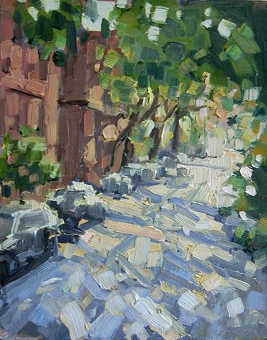 Dappled Light, oil on panel, 8 x 10in