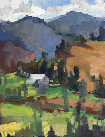 View from Sandy Mush Farm, 12x9in, oil on panel, sold