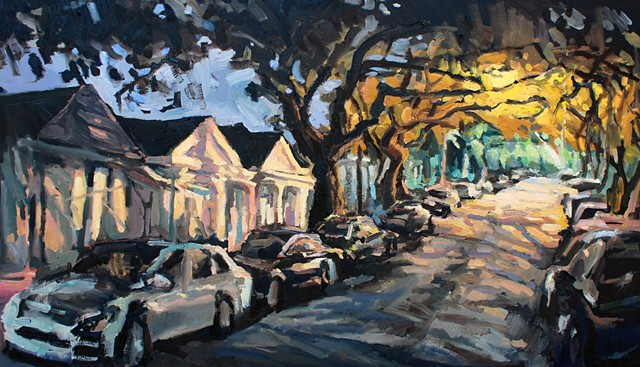 Down the Road, 30x48in, oil on canvas, SOLD