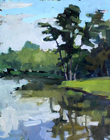 Beaver Lake, 11x14in, oil on panel, sold