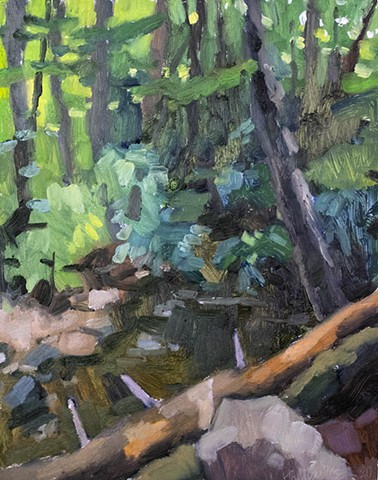 Shope's Creek II, 10x8in, oil on panel, sold