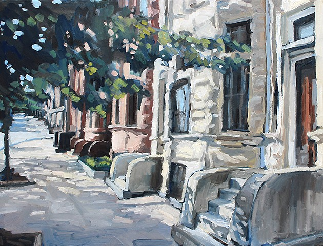 West Baltimore Steps, 18x24in, oil on canvas