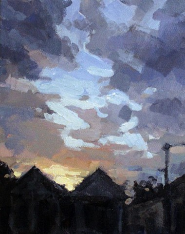 Skyscape, oil on canvas, 8x10, sold