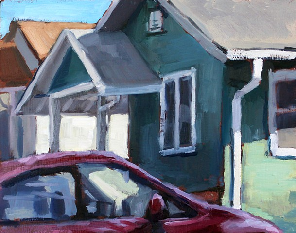 Parked, 8x10in, oil on panel, $300