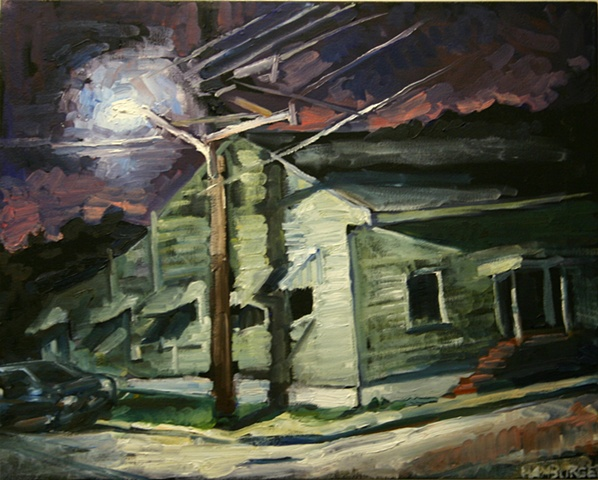 Corner House, 16in x 20in, oil on canvas