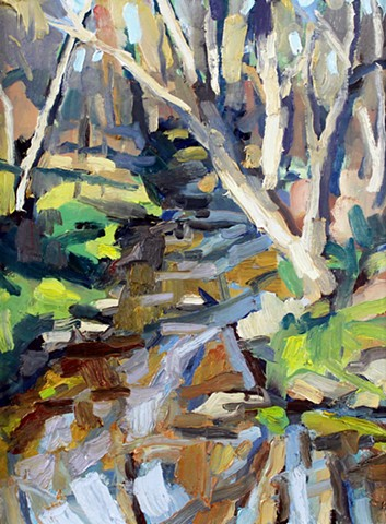 Creek Reflections, 9x12in, oil on panel, available